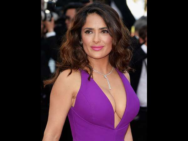 Actress Salma Hayek rushed to hospital wearing inappropriate shirt