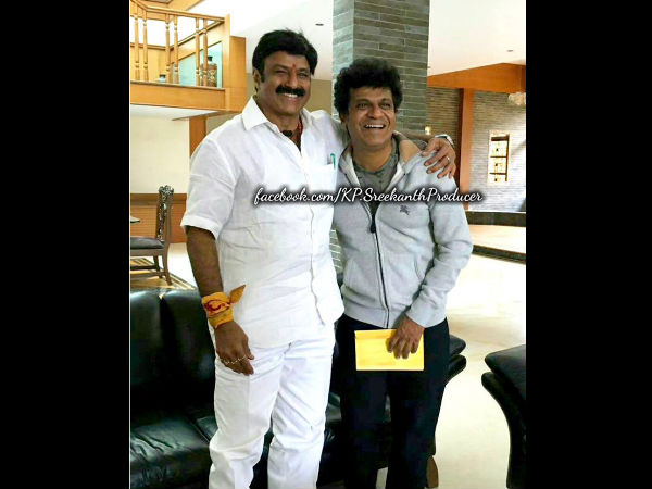 Telugu Actor Nandamuri Balakrishna Meet Actor Shiva Rajkumar