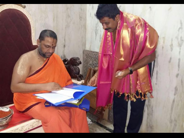 Director Prem Goes Spiritual For 'Kali', Visits Mantralaya