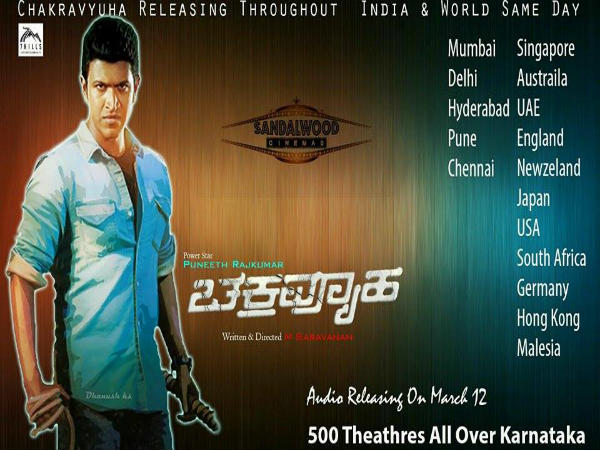 Puneeth Rajkumar's Chakravyuha To Release In 500 Screens, Worldwide