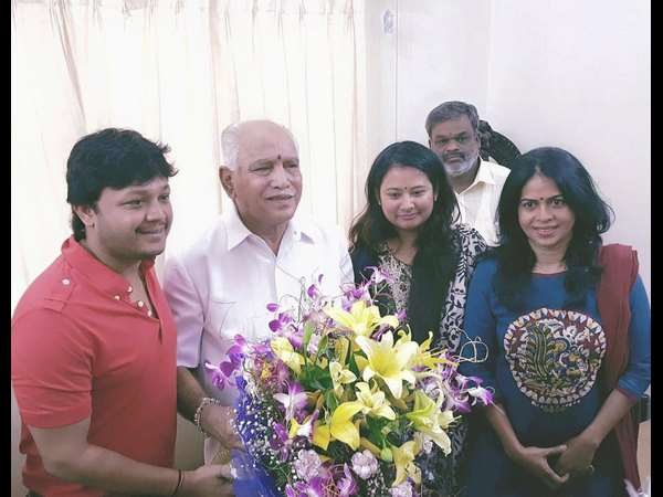 Actor Ganesh and Actress Rakshita to meet BSY