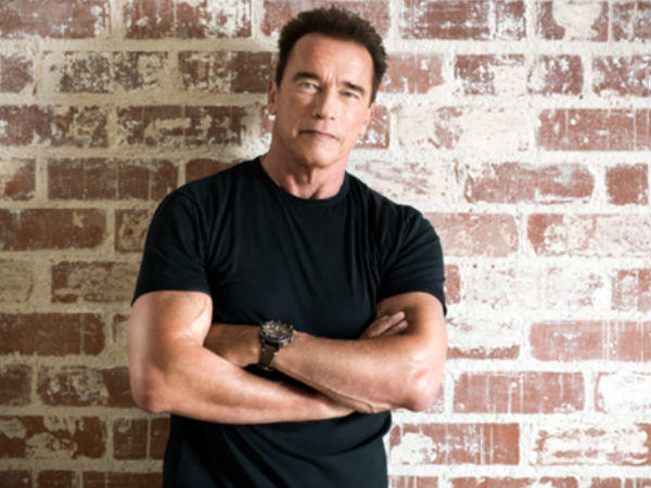 Wild African Elephant charges Actor Arnold Schwarzenegger