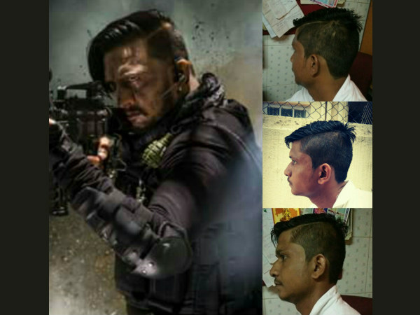 Kannada Actor Sudeep's Hairstyle goes viral in social media