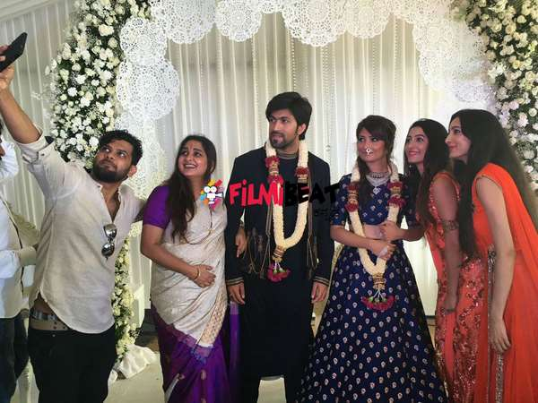 Watch Video: Yash and Radhika Pandit engagement ring exchange