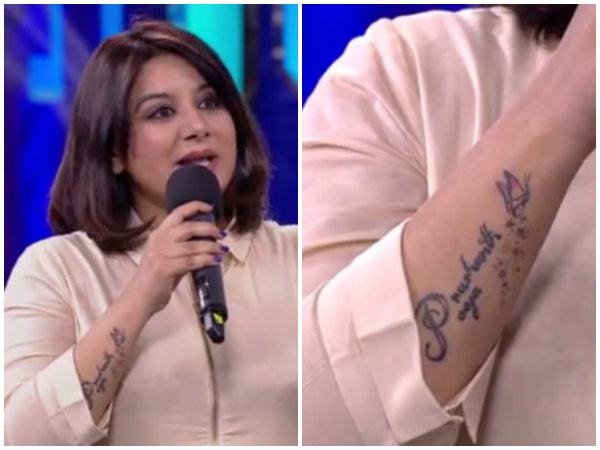 Pooja Gandhi tattoo: Who is Prashanth?