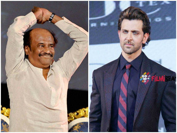 Hrithik Roshan talks about Rajinikanth and Dhanush