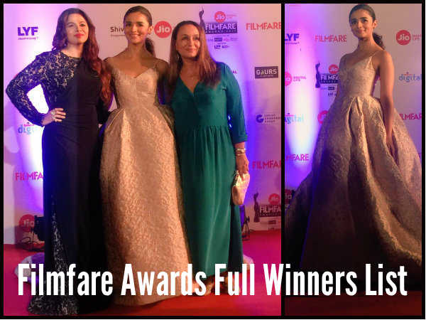 Filmfare Awards 2017: Full Winners List!