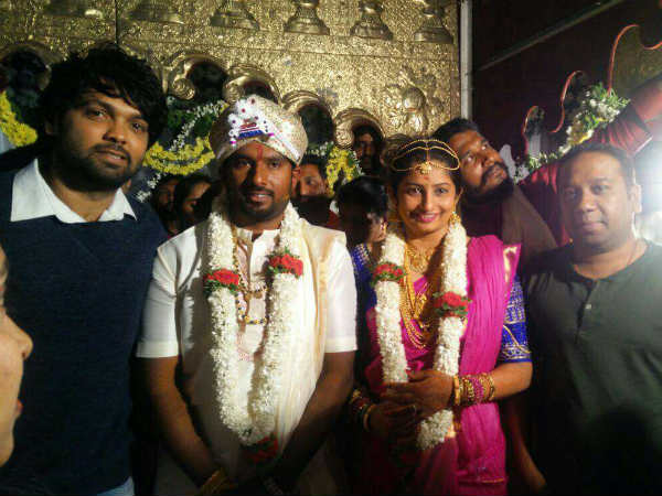 Director Simple Suni got Married today Feb 17 with Soundarya