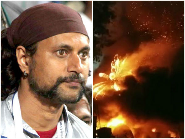 Art Director Arun Sagar's Godown Destroyed in Fire Accident