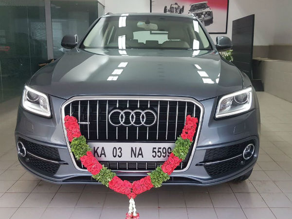 Hebbuli Krishna Bought New Audi Car