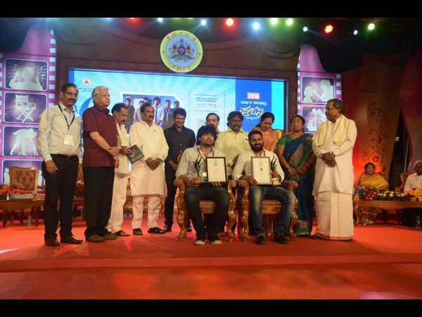Chief Minister Siddaramaiah Presented State Film Awards 2016