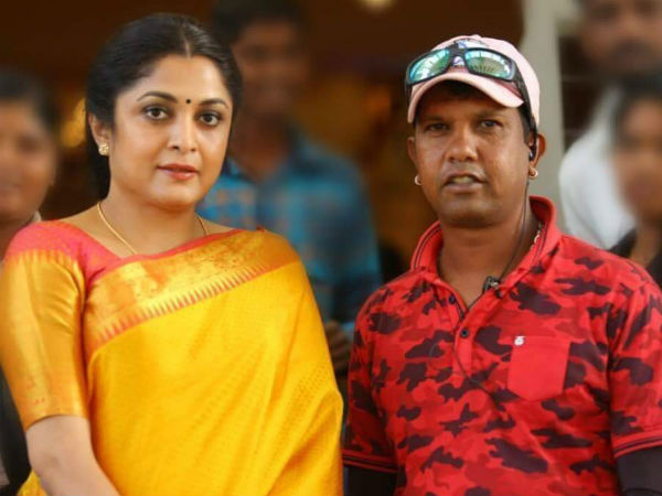 Actress 'Ramya Krishna' in Anjaniputra Movie Set