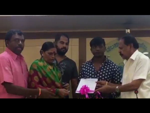 'Maastigudi' Film Team helped 25 Lakhs for Anil and Uday family