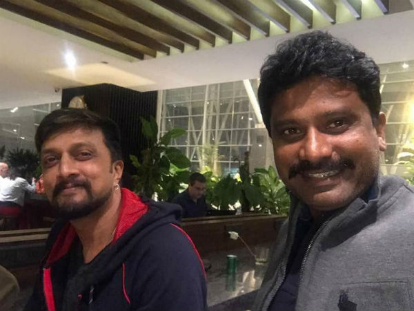 Sudeep and director prem in Bangkok