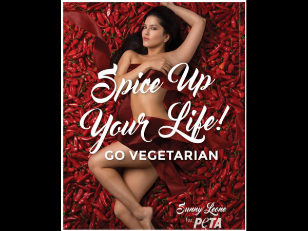 Sunny Leone makes a tempting case for going vegetarian in PETA's new ad!
