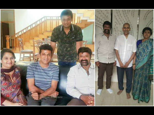 Tollywood Actor 'Balakrishna' in Anjaniputra Movie Set