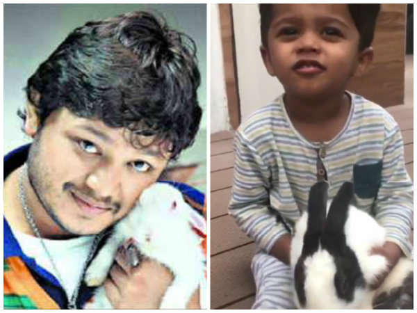 Watch Video: Ganesh son Vihaan playing with Devdas