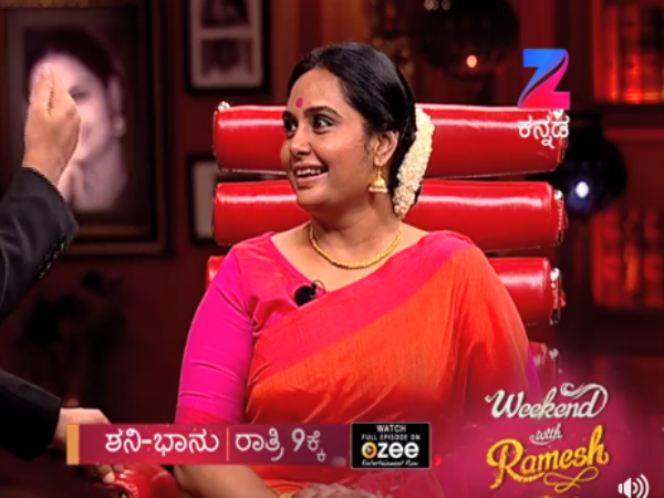 Watch promo: Kannada Actress Shruthi has taken part in 'Weekend With Ramesh 3'