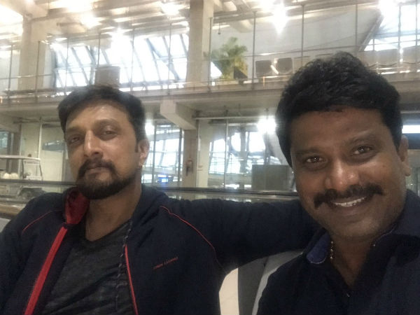 kiccha-sudeep-bakes-cake-for-director-prem