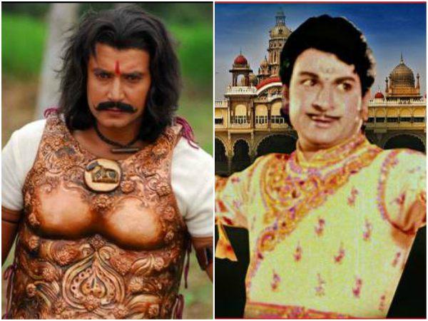 'ಕುರುಕ್ಷೇತ್ರ' ಚಿತ್ರಕ್ಕಾಗಿ ರಾಜ್ ಕುಮಾರ್ ಸಿನಿಮಾ ನೋಡುತ್ತಿರುವ ದರ್ಶನ್