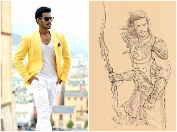Nikhil kumar look in 'Kurukshetra' Movie