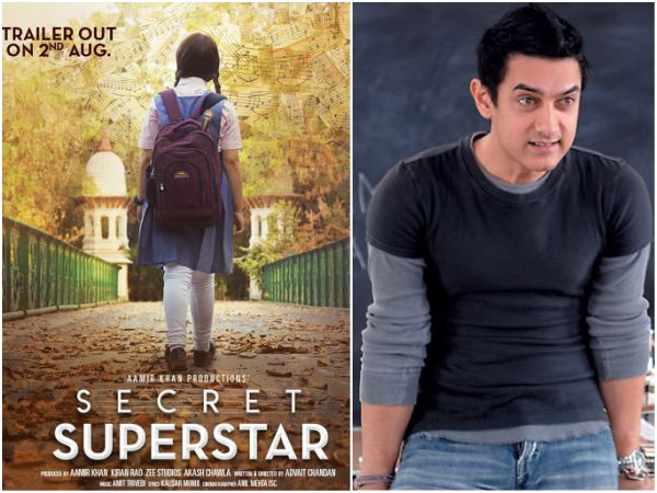 Aamir Khan's 'Secret Superstar' movie first look released.