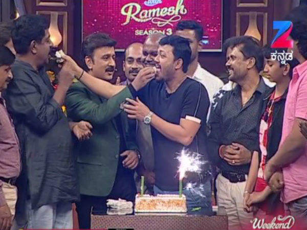 Watch promo: Ganesh celebrates his birthday in 'Weekend With Ramesh-3' show