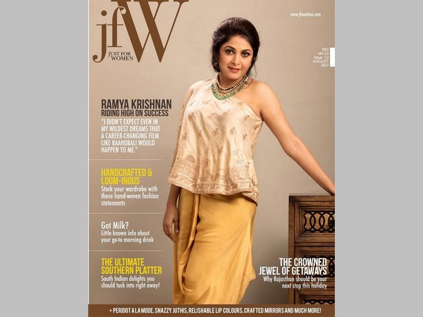 Ramya Krishnan's Stylish Avatar On The Cover Of A Magazine