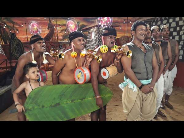 'Anjaniputra' Movie Song making photos out