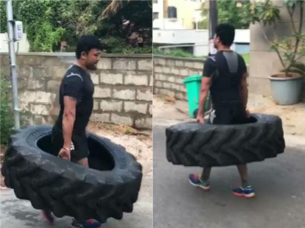 ವಿಡಿಯೋ: ಗೋಲ್ಡನ್ ಸ್ಟಾರ್ 'ಬಾಹುಬಲ'ಕ್ಕೆ ಉಘೇ.!