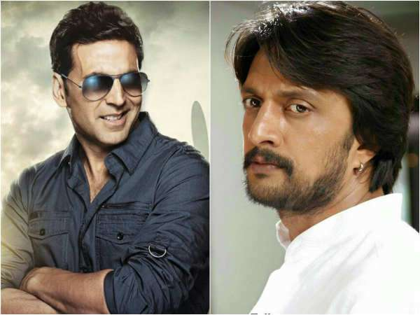 Sudeep wish to Bollywood Actor akshay kumar