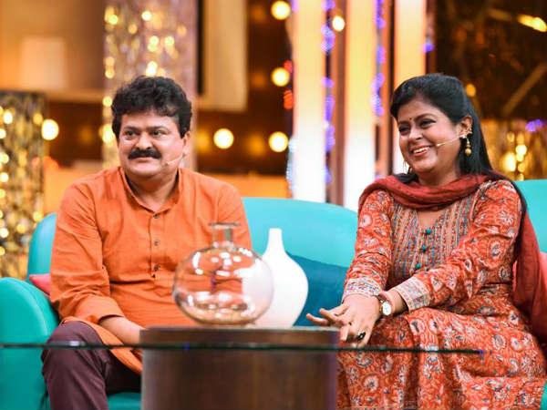 Mandya Ramesh and Aparna in 'Super talk time'.