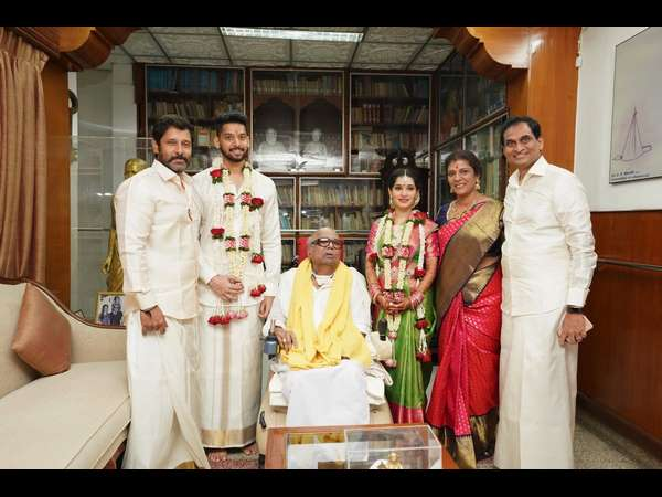 Actor Vikram's daughter Marriage With M.Karunanidhi's grandson