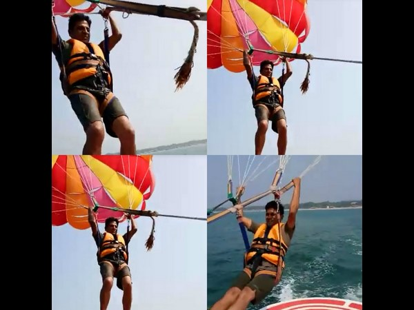 Shivaraj Kumar has done a Parasailing in Goa