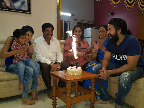 3th birthday celebrations at Yash's house in January