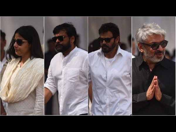 Chiranjeevi pay their last respects to sridevi