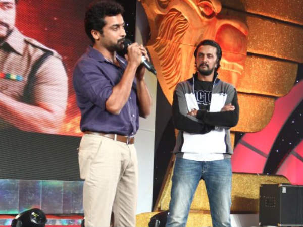 Sudeep appreciate to tamil actor suriya