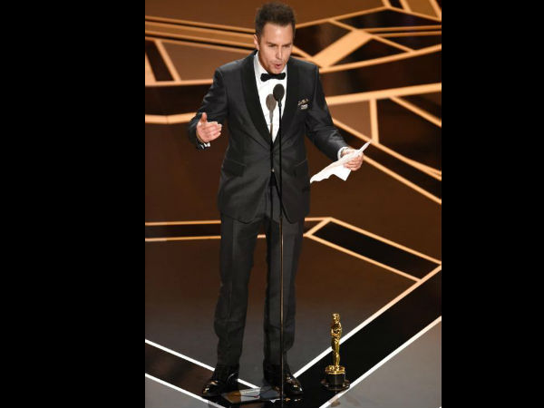 Oscar Awards 2018 : Sam Rockwell wins best supporting actor