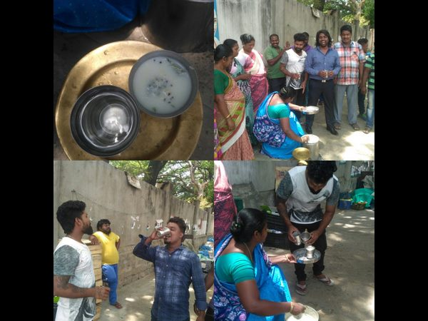 Pro Kannada Activists have appreciated Tamil Actor Simbu by distributing water bottles to Tamilians