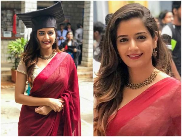 Ashika Ranganath graduated with b.com