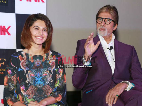 Amitabh Bachchan and Tapsee Pannu to reunite for Badla movie
