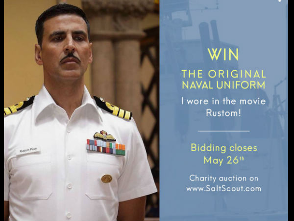 Akshay's Rustom uniform is being auctioned for crores
