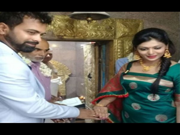 Cricketer NC Ayyappa got engaged with actress Anu Pooamma