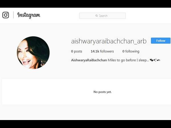 Aishwarya Rai Bachchan finally made her Instagram debut