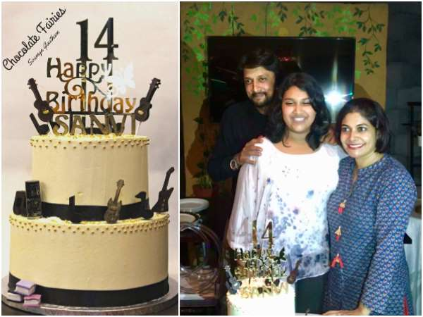 Sudeep and Priya Sudeep celebrated their daughter birthday