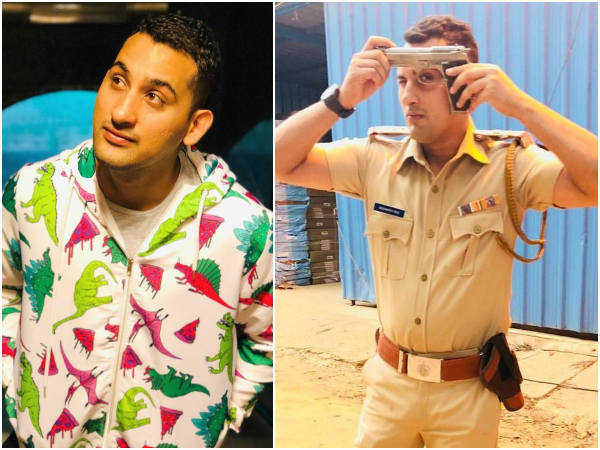 Actor Danish Sait playing a cop role in sold movie.