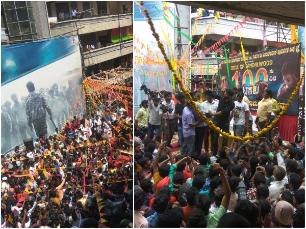 'ಟಗರು' 100 ಡೇಸ್ : ಸಂತೋಷ್ ಚಿತ್ರಮಂದಿರದಲ್ಲಿ ಫ್ಯಾನ್ಸ್ ಜೊತೆ ಶಿವಣ್ಣ ಹಬ್ಬ