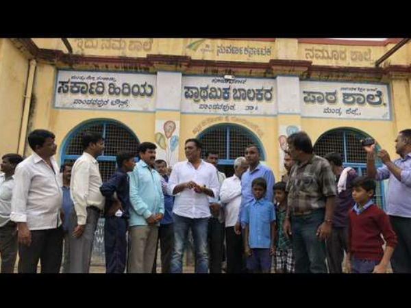 Prakash Rajs foundation adopted 5 schools in Karnataka