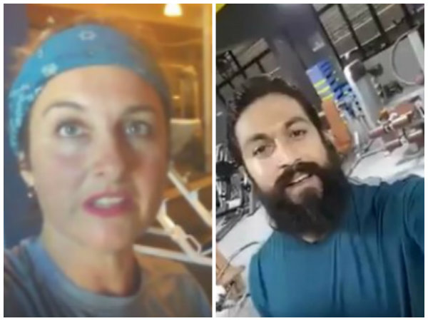 Watch Video: Yash inspires foreign lady in fitness challenge