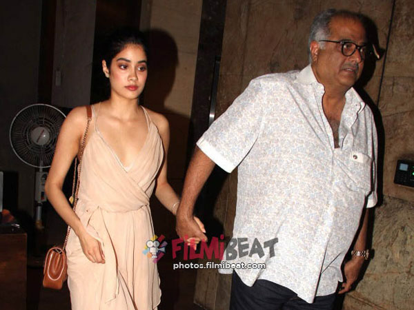 Khushi and boney kapoor cried after watching Dhadak